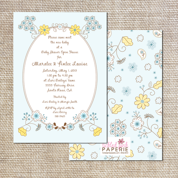 Spring Daisies and Bluebells Baby Shower