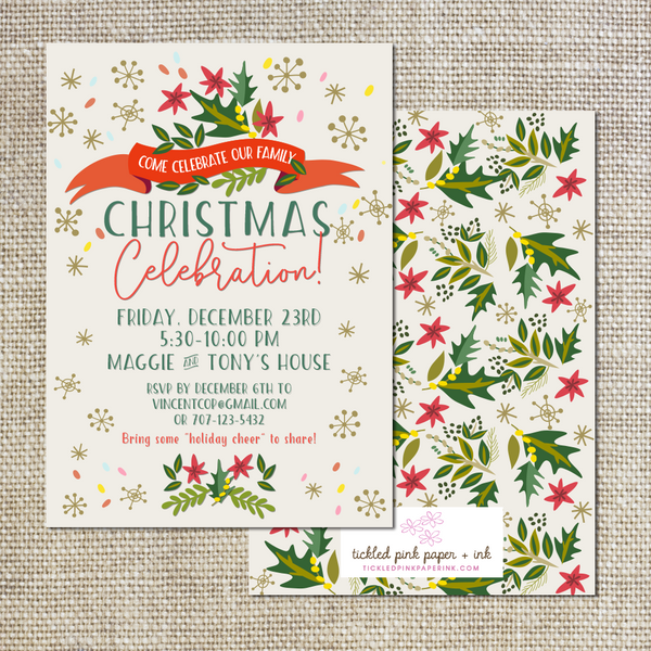 Christmas Celebration invitation
