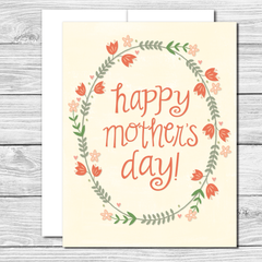 Happy Mother's Day! Hand drawn Mother's Day card