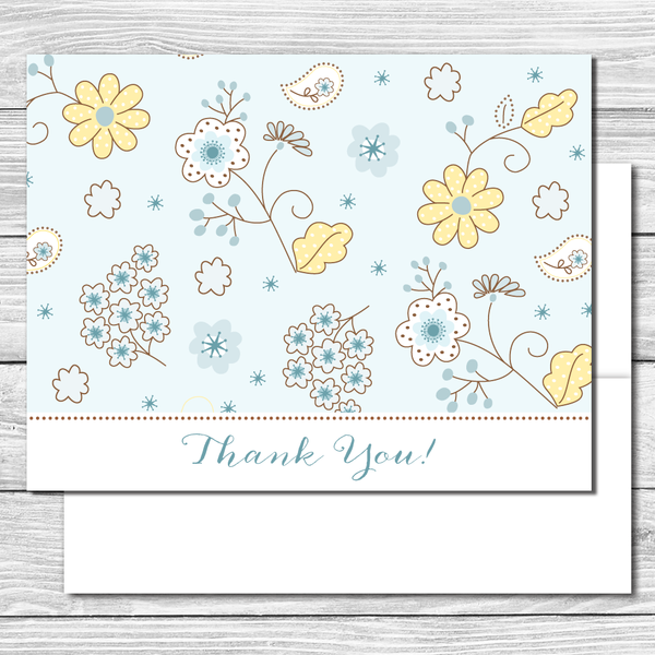 Thank you Notes--Spring Daisies and Bluebells