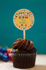 Woodland Party Cupcake Toppers