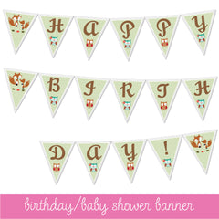 Baby Shower or Birthday banner
