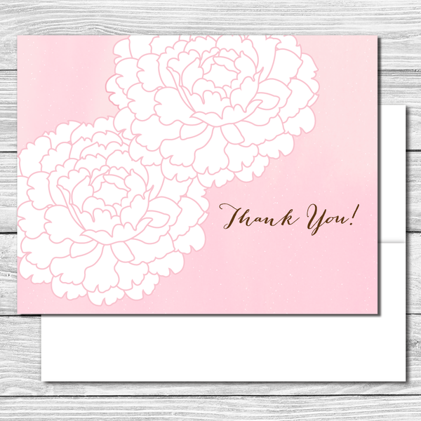 Thank you Notes--Pink Peonies