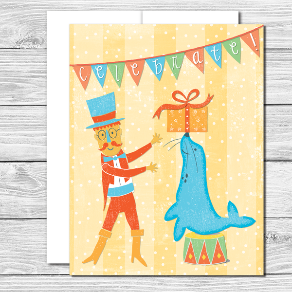 Celebrate the big day! Hand drawn birthday card