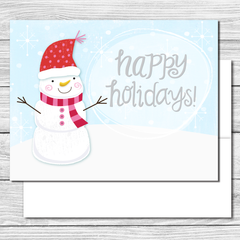 Happy Holidays! Hand drawn greeting card