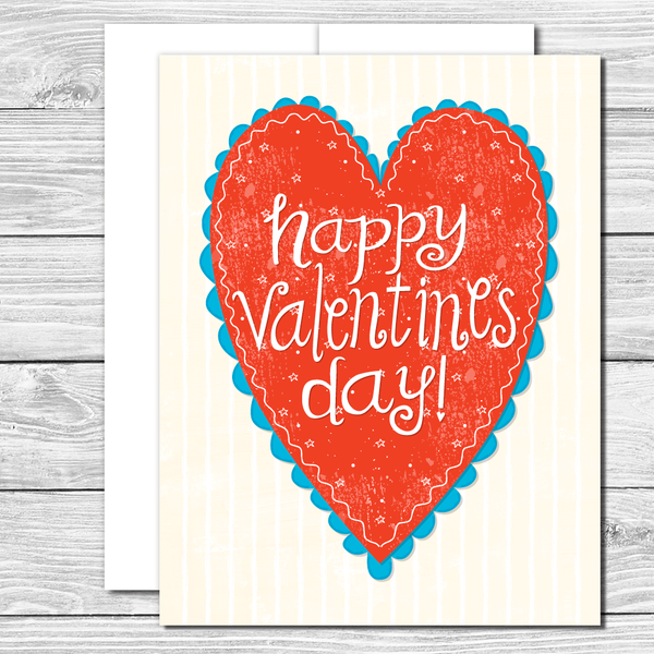 Happy Valentine's Day! Hand drawn card