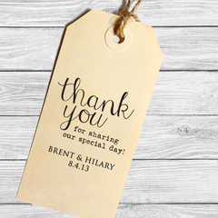Wedding Favor Thank You Stamp with Modern Calligraphy
