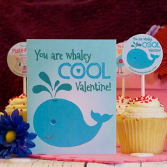 Valentine's Card with kooky whale