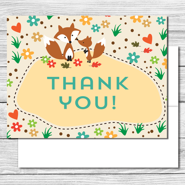 Thank you Notes--Woodland Creatures Party