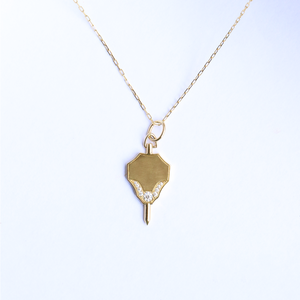 Fob Diamond Charm Necklace