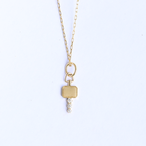 Mini Catherine Key Charm Necklace