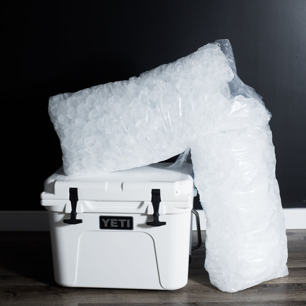 26.4 lbs bag of ice great for cocktails and staying cool during hot days