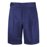 Dugdale Cotton D-Ring Shorts in Navy