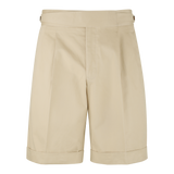 Dugdale Cotton Gurkha Shorts in Khaki