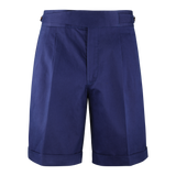 Dugdale Cotton Gurkha Shorts in Navy
