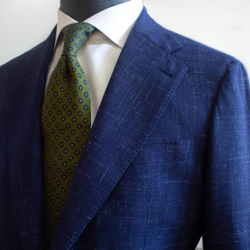 Classic Blue Wool Cavalli Sports Jacket