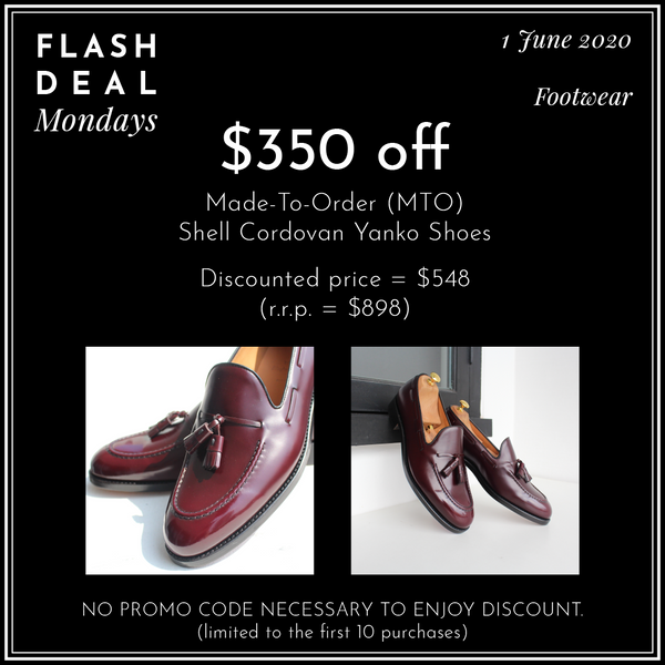 Made-To-Order (MTO) Shell Cordovan Yanko Shoes