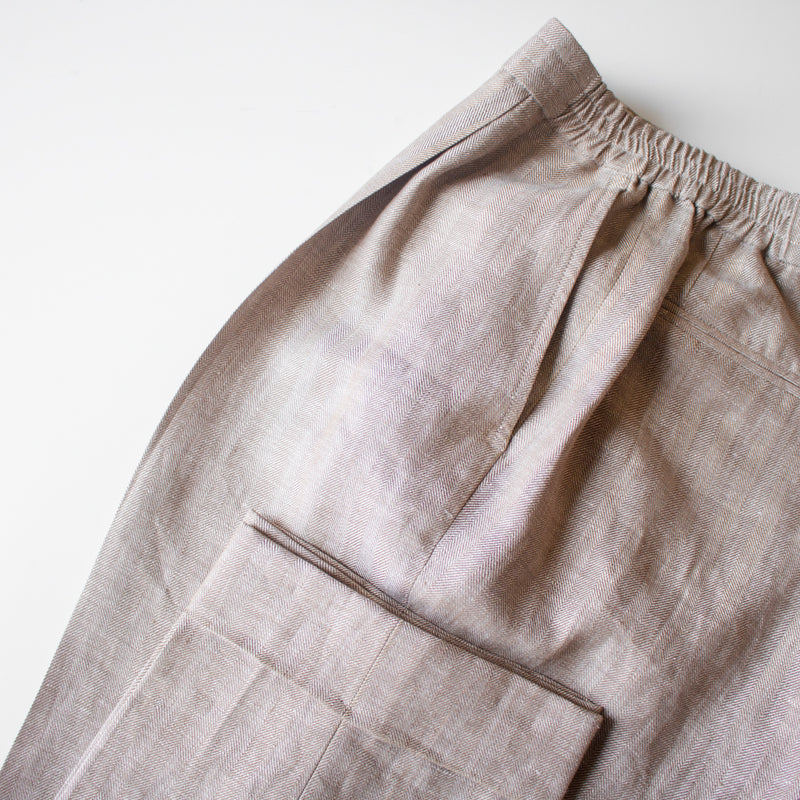 Tailored Drawstring Linen Trousers