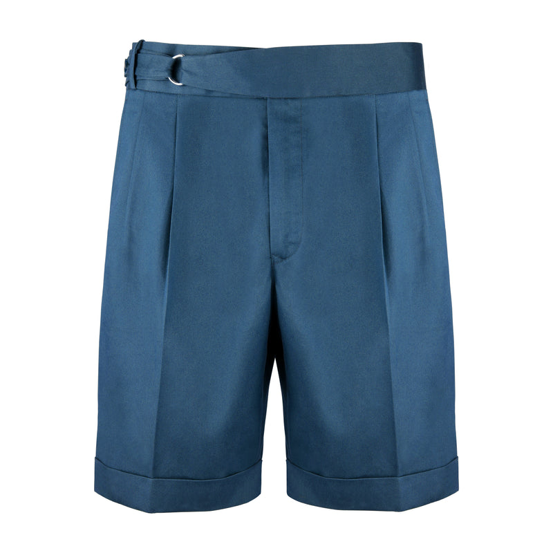 Dugdale Cotton D-Ring Shorts in Teal