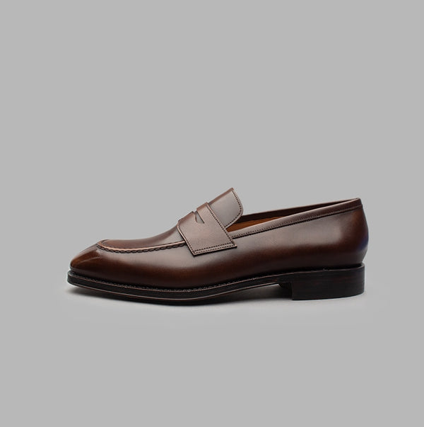 Penny Loafer in Dark Brown Calf Leather