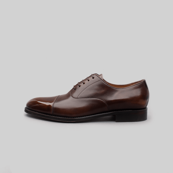 Cap Toe Oxford in Dark Brown Calf Leather