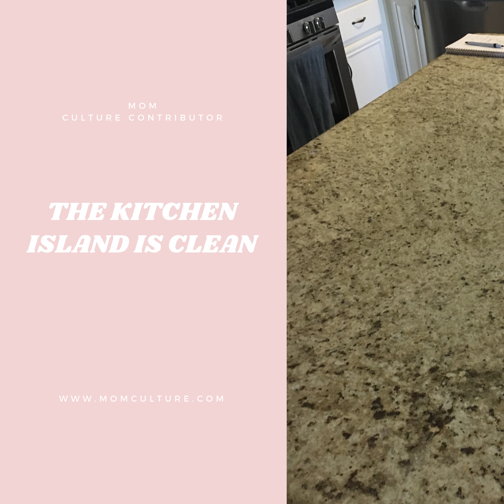 The Kitchen Island is Clean