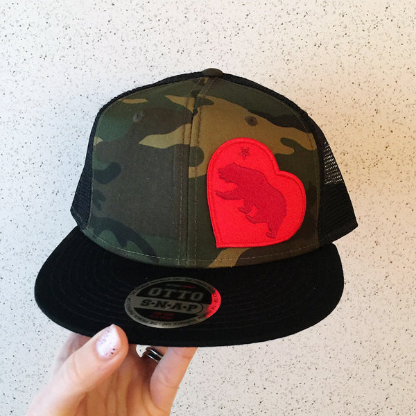 """I Left my Heart in Cali"" Camo Hat"