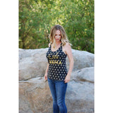 """Cali MAMA"" Gold Glitter Tank RETIRED"