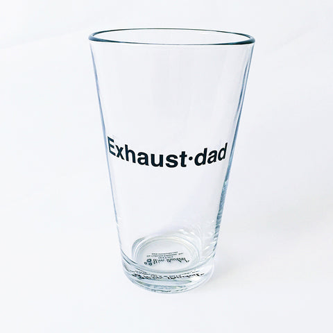 """Exhaust•dad"" Beer Glass"