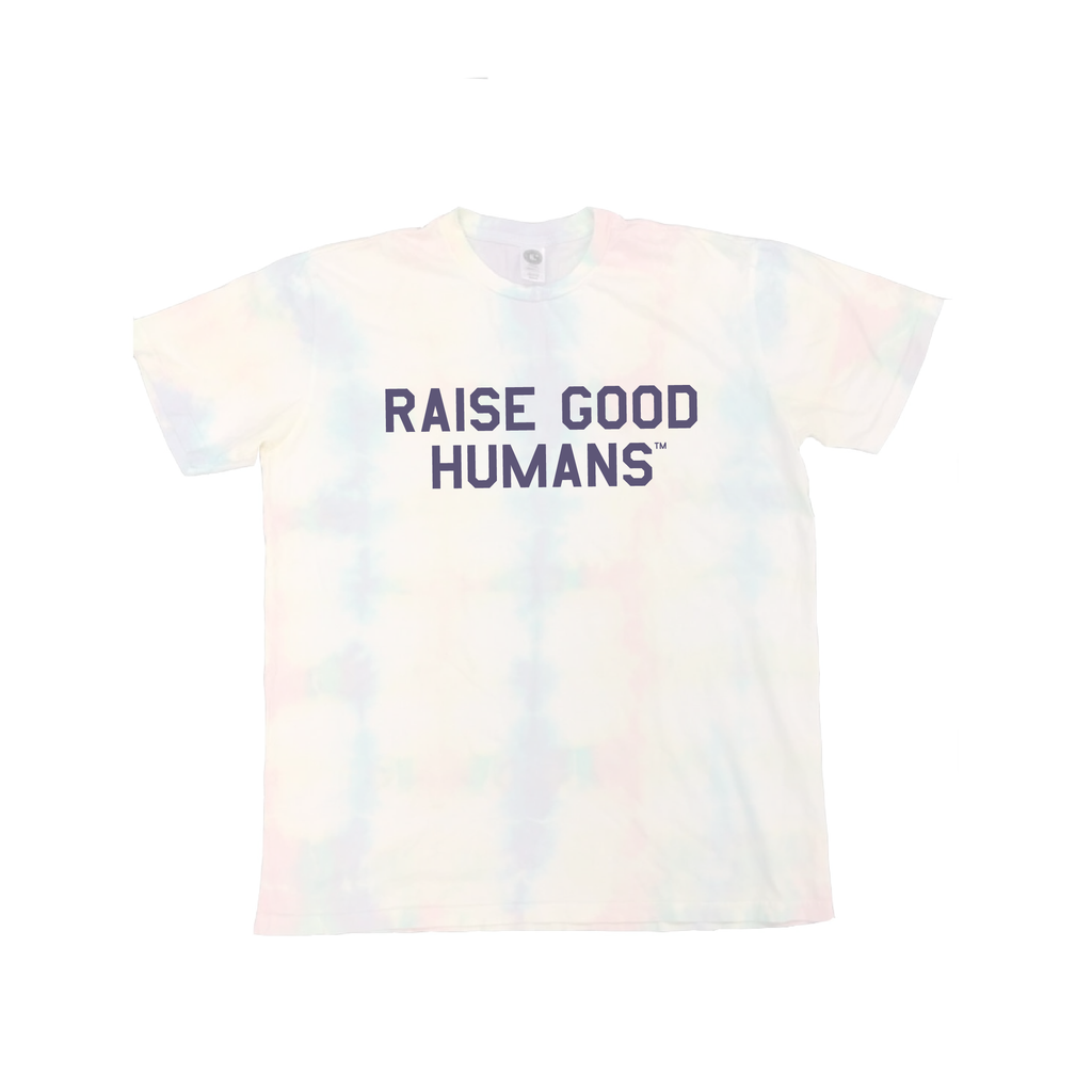 """RAISE GOOD HUMANS®"" Tie Dye Square Tee"