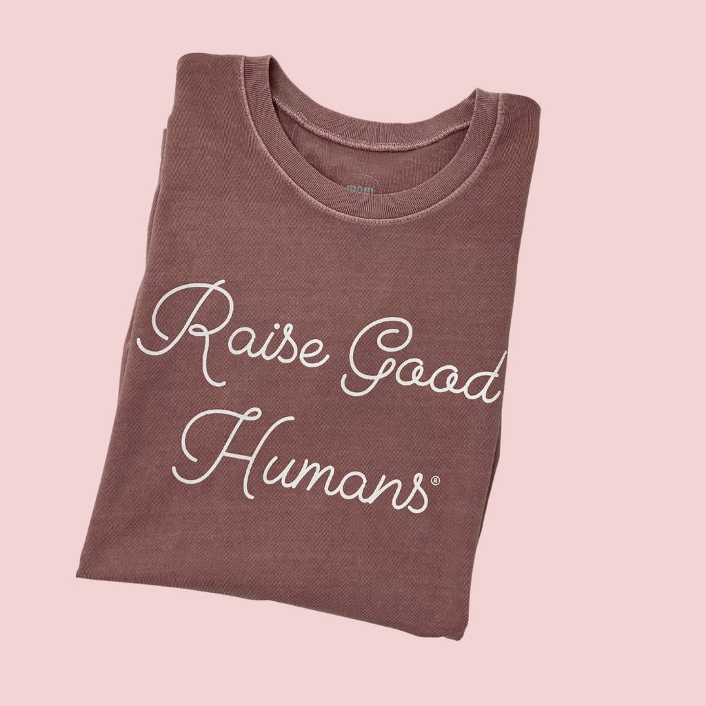 """Raise Good Humans®"" Relaxed Muscle Tank Made in the USA"