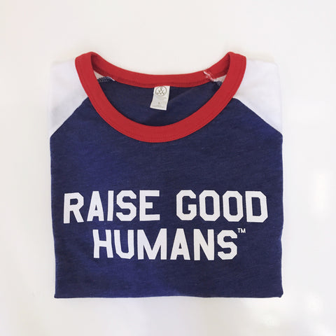 """Raise Good Humans™"" American Slapshot tee"