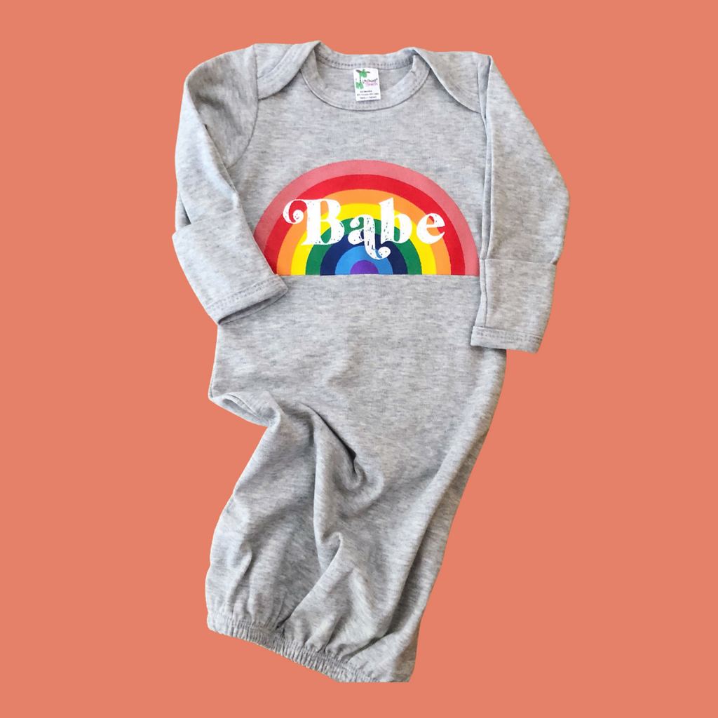 """Rainbow Babe ©"" Baby Gown"
