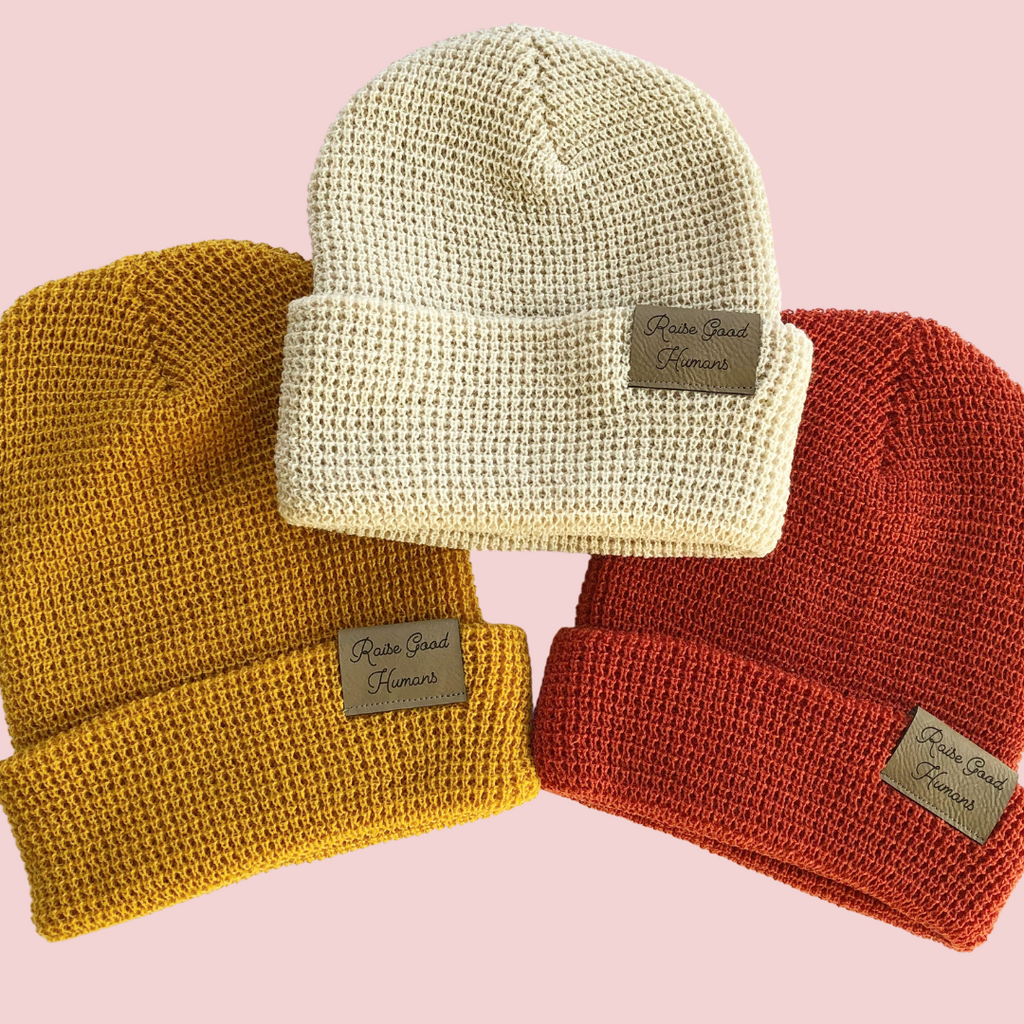 """Raise Good Humans®"" Waffle Beanie"