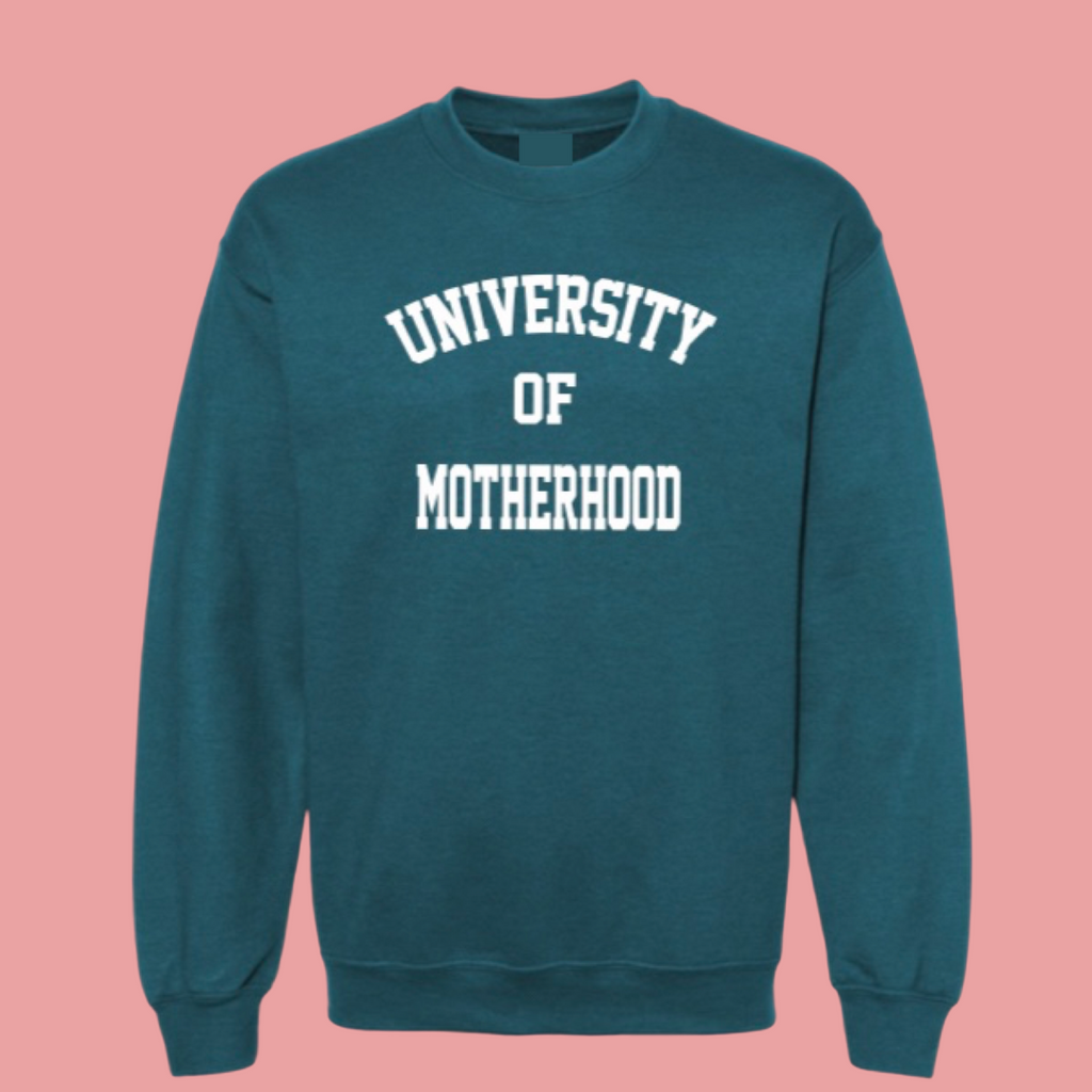 """University of Motherhood©"" College Pullover - Mom Culture"