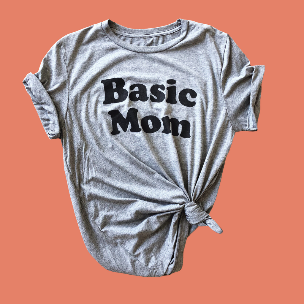basic mom graphic tee mom life fall