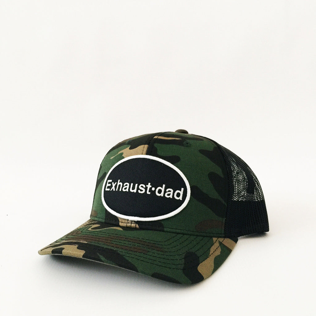 """Exhaust•dad"" Camo Hat - Mom Culture"