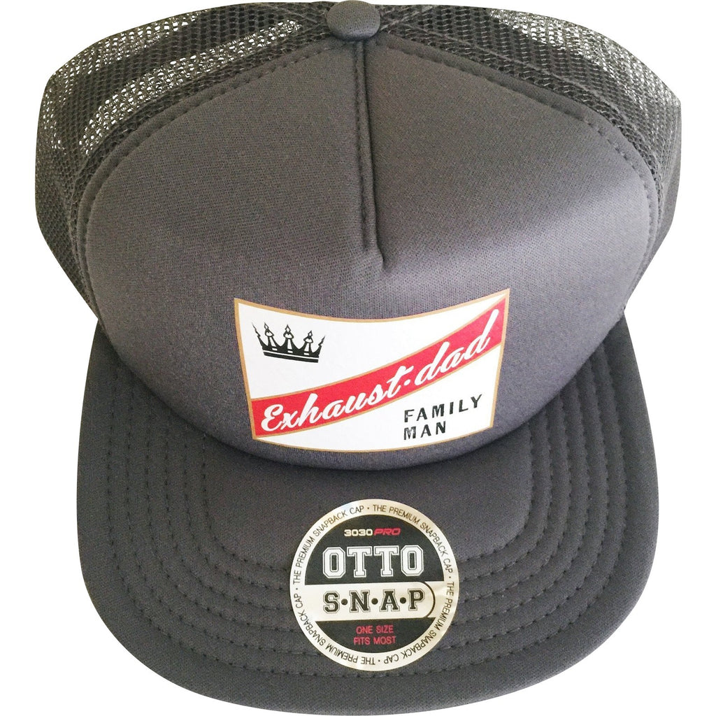 """Exhaust•dad©"" Family Man Trucker Hat - Mom Culture"