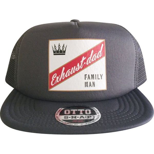 """Exhaust•dad©"" Family Man Trucker Hat"
