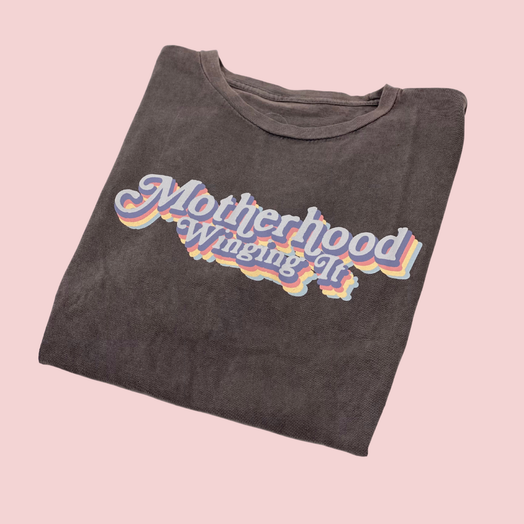 """Motherhood Winging it®"" Vintage Tee"