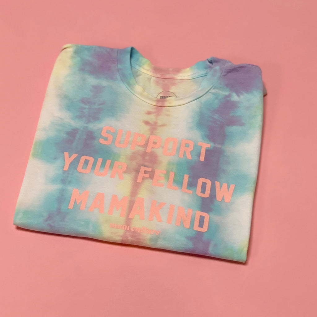 """Support Your Fellow MamaKind©"" Tie Dye Square Tee"