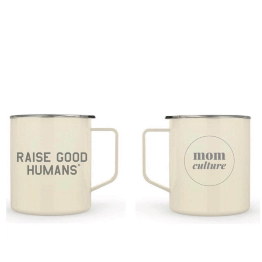 """Raise Good Humans® ""14 oz Stainless Steel Mug - Mom Culture"