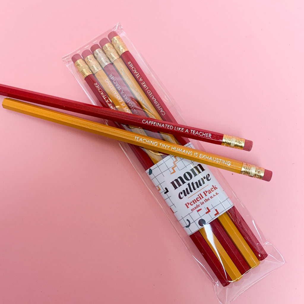 """Teacher Pencil Pack"" Made in USA"