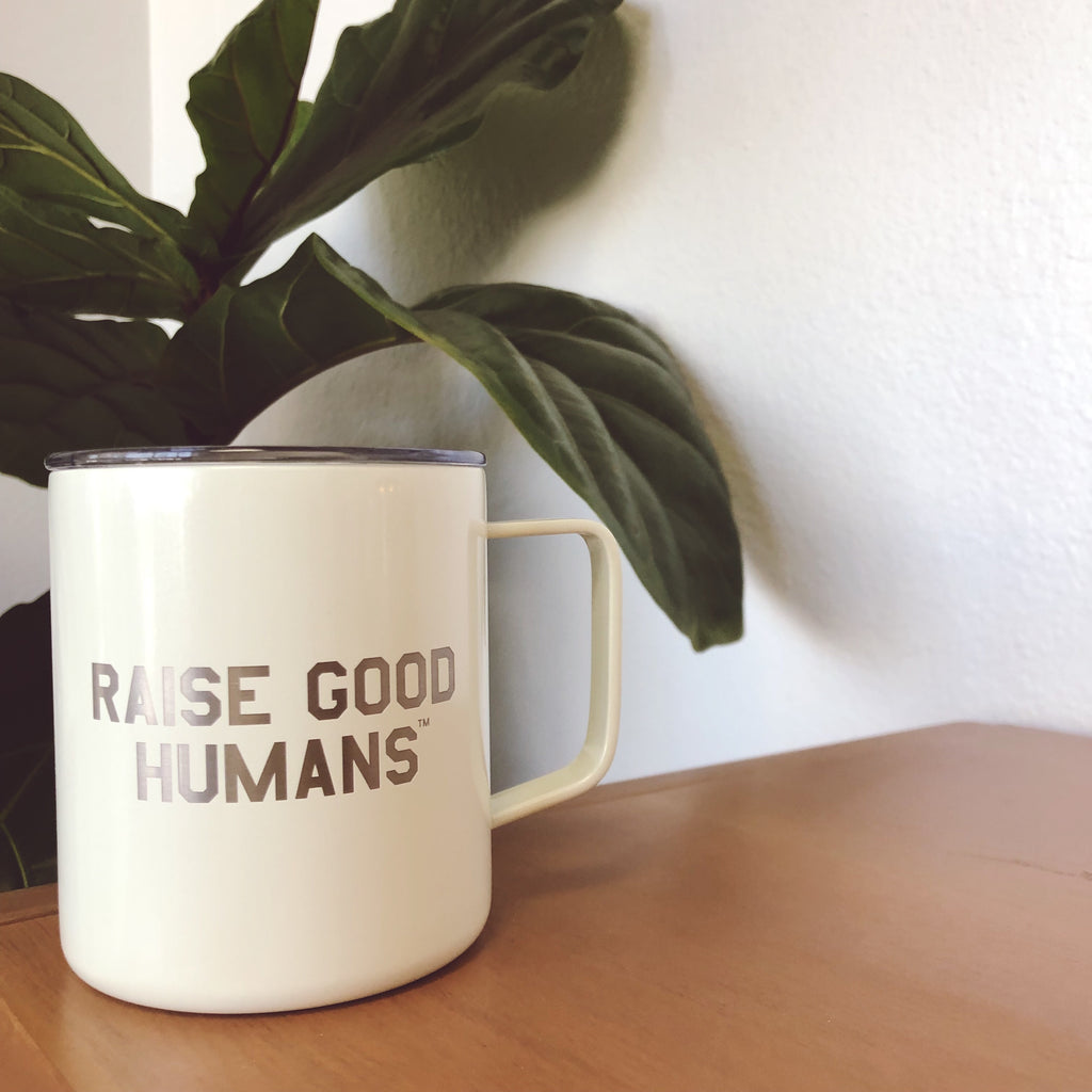 """Raise Good Humans® ""14 oz Stainless Steel Mug"