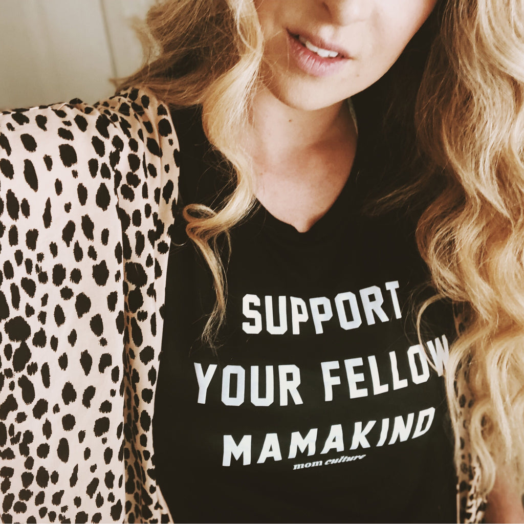 """Support your fellow mamakind©"" FLOWY SCOOP MUSCLE TANK"