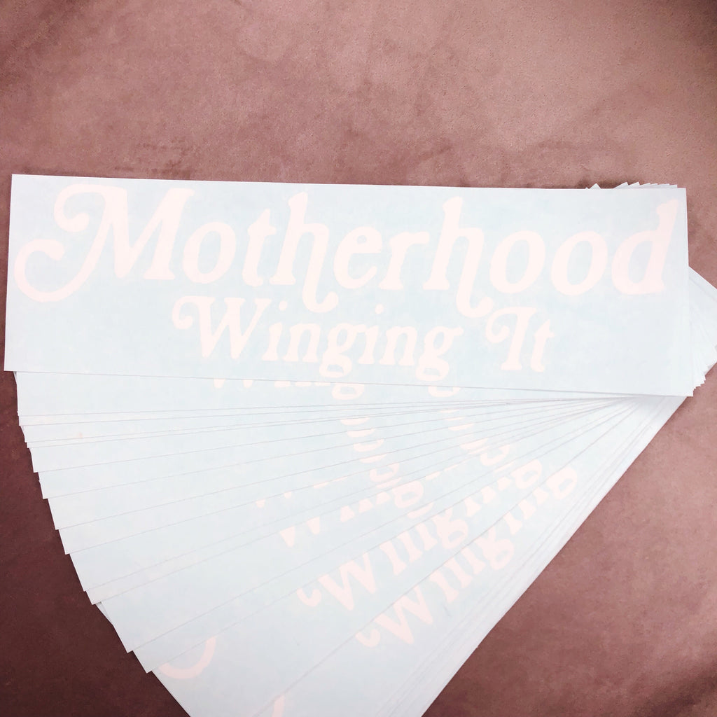 """Motherhood Winging It®"" Decal"