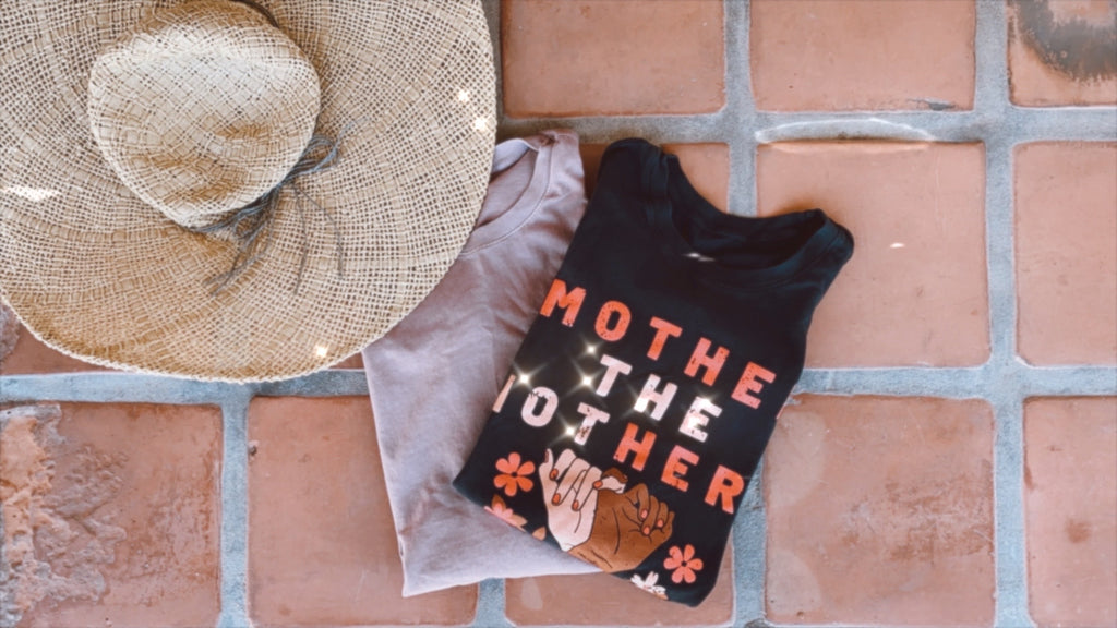 """Mother the mothers©"" Relaxed Muscle Tank Made in the USA"