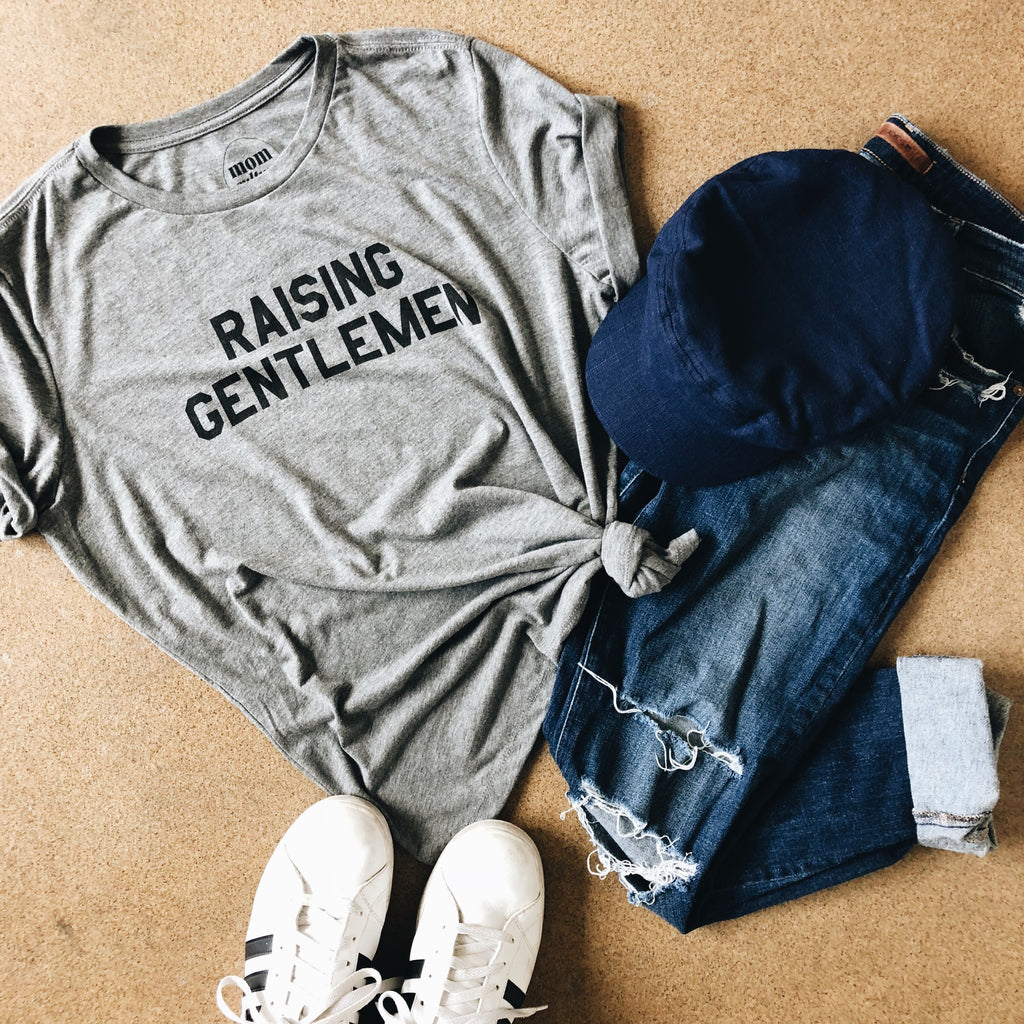 """Raising Gentlemen©"" Tee - Mom Culture"