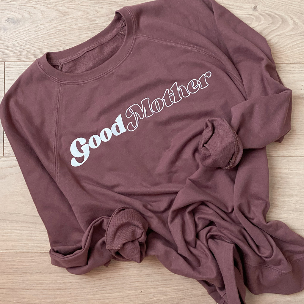 """Good Mother©"" French Terry Lightweight Pullover"