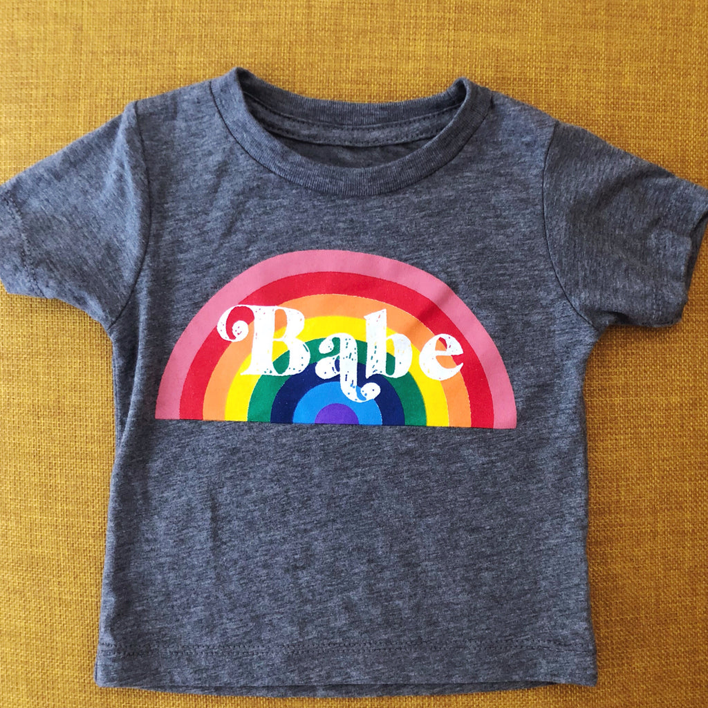 """Rainbow Babe"" Tee 